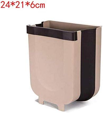 折りたたみゴミ箱キッチンゴミ箱折りたたみ車のゴミ箱は壁に取り付けられたゴミ箱バスルームトイレ収納バケット,24X21X6cm