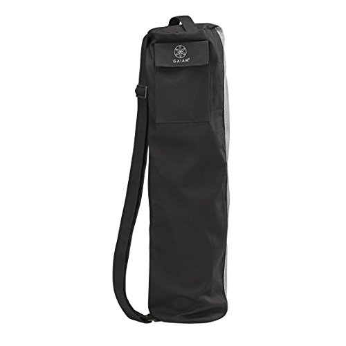 Gaiam Breathable Yoga Mat Bag, Black/Grey