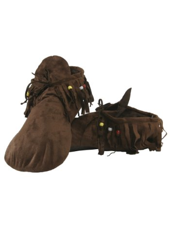 Hippie Shoes Costume (Unknown mens Mens Hippie Moccasins Standard)
