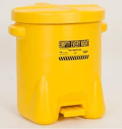Safety Cans - 14 Gallon Yellow Oily Waste Can - SAFETY-EG-937-FLY