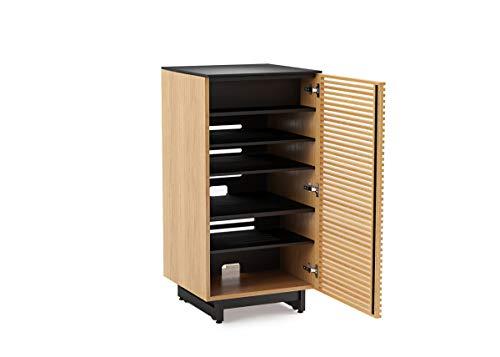 BDI 8172 WOK Corridor Audio Tower & Stereo Cabinet, White Oak ()
