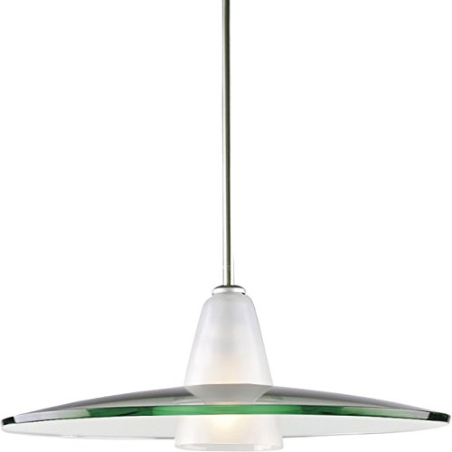 Stem Nickel Brushed - Progress Lighting P5012-09 Contemporary Stem-Hung Pendant, Brushed Nickel