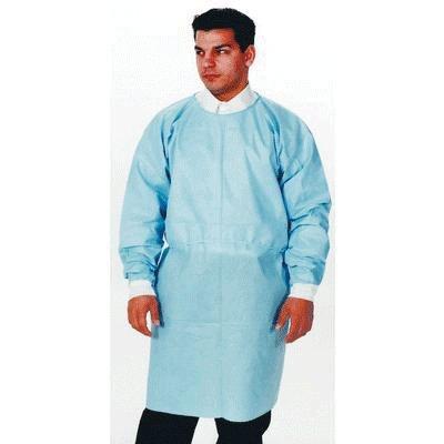 ValuMax 3370B-K Dual Fabric Tie-Back Gowns Blue 10/Pk