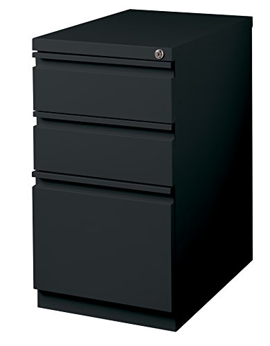 Office Dimensions Mobile Pedestal Box/Box/File, 20-Inch Deep, Black