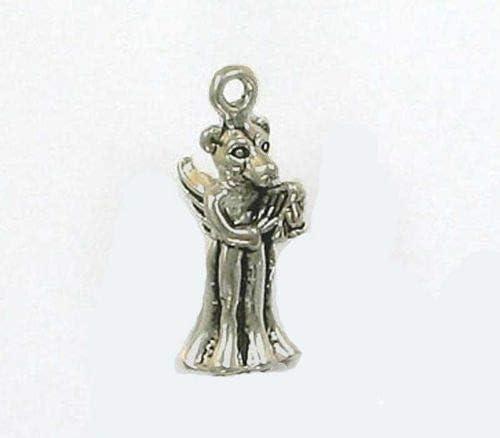 Sterling Silver 3-D Angel Pendant