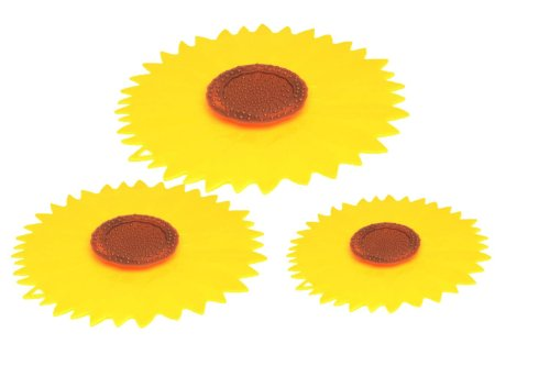 Charles VIANCIN The Sunflower Small, Medium & Large Silicone Suction Lid & Food Cover (Set of 3)