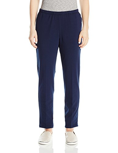 Ruby Rd. Women's Petite Pull-on Stretch French Terry Pant...