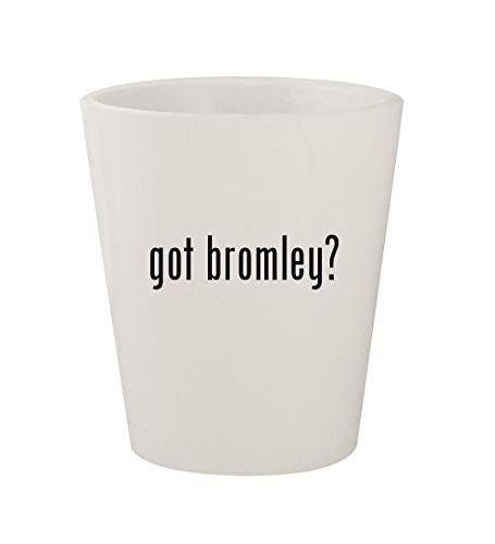 - got bromley? - Ceramic White 1.5oz Shot Glass