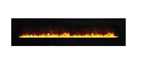 Best Buy Amantii Wall Mount/Flush Mount Series Electric Fireplace (WM-FM-88-10023-BG) 100-Inch Reviews