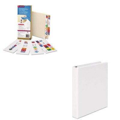 KITSMD66006UNV20962 - Value Kit - Smead Smartstrip Refill Label Kit (SMD66006) and Universal Round Ring Economy Vinyl View Binder (UNV20962)