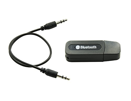 HIGHFINE USB Bluetooth Wireless Audio Music Receiver Adapter 3.5mm Stereo Output for Headphones Portable Speakers and Car Stereo Systems