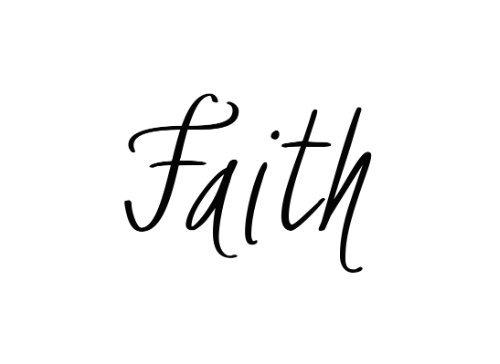 Faith Temporary Tattoo - Semi-Permanent Tattoos - Set of 2 Spiritual Quote Tattoos, Size - 1.5