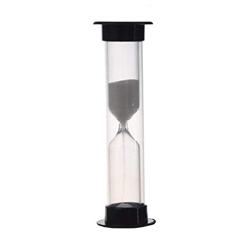 SODIAL Hourglass (black one minute)