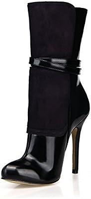Best 4U Scarpe da Donna Stivali Invernali Autunnali 12CM PU Scarpe con Tacchi Alti in Ve Scarpe da danza da donna Sport e tempo libero
