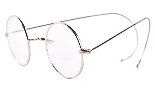 7e27e99863b Agstum Retro Small Round Optical Rare Wire Rim Eyeglasses Frame
