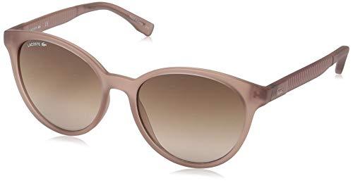 Lacoste Women's L887s Round Sunglasses, Transparent Nude, 54.01 ()