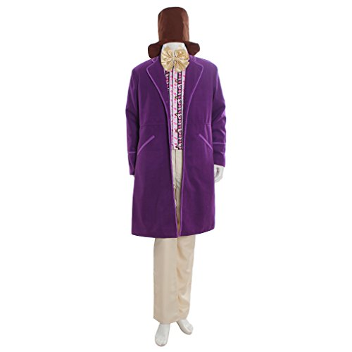 [CosplayDiy Men's Suit for Charlie and the Chocolate Factory Willy Wonka M] (Violet Wonka Costume)