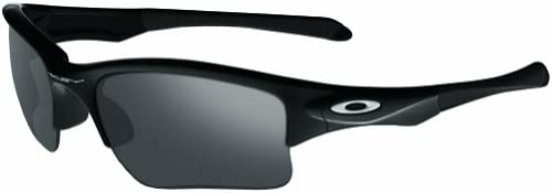 Oakley Men s OO9200 Quarter Jacket Rectangular Sunglasses, Polished Black Black Iridium, 61 mm