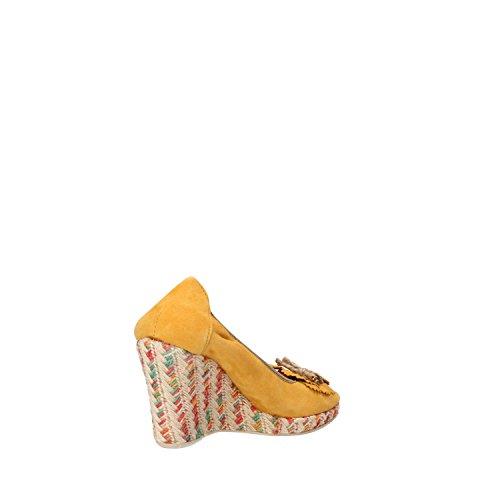 CALPIERRE Cuñas Mujer Amarillo Gamuza AG725 (40 EU)