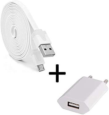 Shot Case Pack Cargador para Ultimate Ears Boom 3 Micro USB Cable Noodle 3M + Enchufe de Color USB Android (Blanco): Amazon.es: Electrónica
