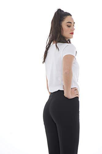Avec Et Fini Tulle shirt Pepe Imprimé Patrizia Blanc T Strass Florence 0qTtSgw