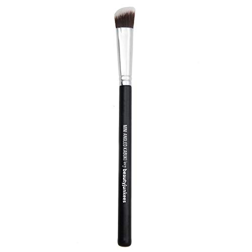 Angled Eyeshadow Blending Makeup Brush - Small Mini Angle Kabuki Synthetic Bristles Best for Precision Blending Eye Shadows, Vegan Brochas Para Ojos
