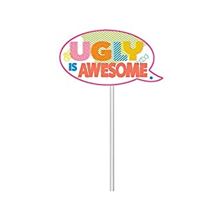 """Amscan 670906 UglyDolls Movie Party Scene Setters w/Photo Props, 16 Pc. (27. 75"""" wide x 40"""" tall)"""