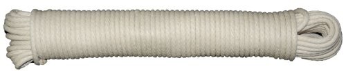 (T.W Evans Cordage 46-083 Number-8 1/4-Inch Buffalo Cotton Sash Cord 50-Feet Hank)