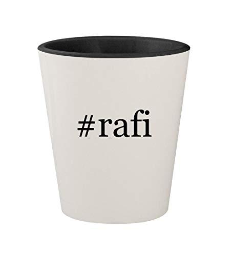 #rafi - Ceramic Hashtag White Outer & Black Inner 1.5oz Shot Glass