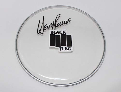 (Black Flag Damaged Rise Above Henry Rollins Signed Autographed Drumhead Loa)