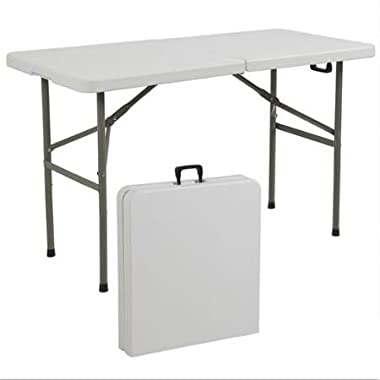 Best Choice Products Folding Table Portable Plastic Indoor Outdoor Picnic Party Dining Camp Tables, 4'