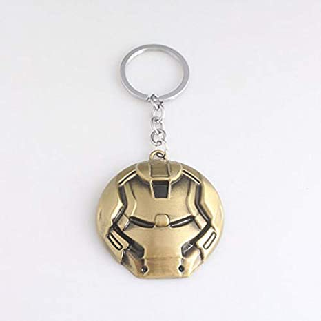 Amazon.com: Avengers 4 Endgame Iron Man Mask Metal Keychain ...