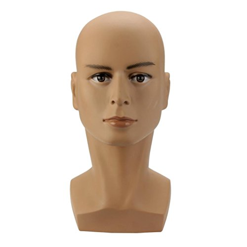 Hip Hop Home Girl Wig (Head Model ,Vanvler Coffee Color Male Mannequin Head Hat Display Wig Training Simulation Head Model (Coffee))