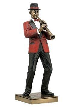 Clarinet Player Statue Sculpture Figurine - Jazz Band Collection