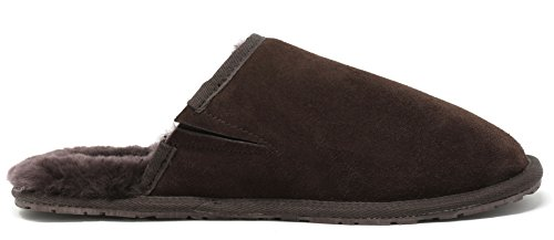 Fur Slippers DREAM Avalon PAIRS Fluffy Men's Brown Sheepskin Mules Comfy waFSRqIa