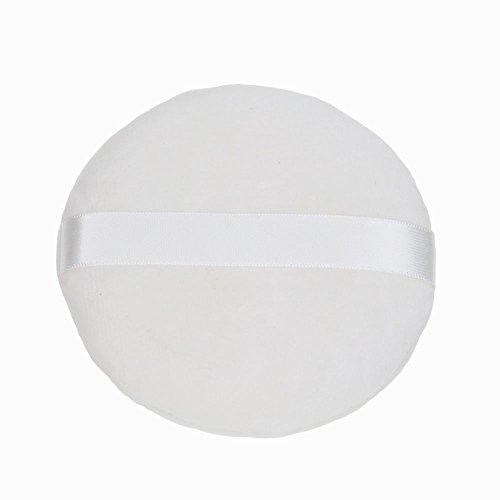 Topwon 4'' Loose powder Puff Body Puff W Ribbon (10cm) 6Pcs (Supple Powder)