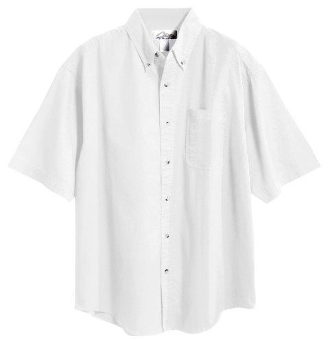 Shirt Mens Sleeve Short Twill (Tri-mountain Mens 60/40 stain resistant short sleeve twill shirt. 768 - WHITE_3XL)