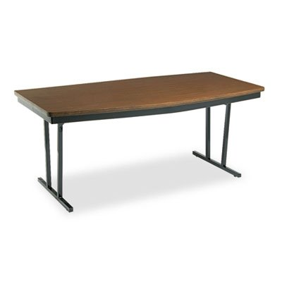 BARRICKS MANUFACTURING CO Economy Conference Folding Table, Boat, 72w x 36d x 30h, Walnut, Sold as 1 Each ()