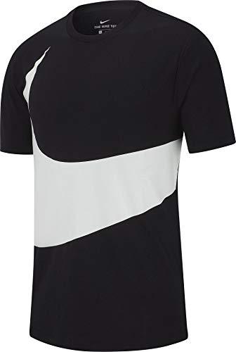 (Nike Mens Sportswear TEE HBR Swoosh 1 Black/White)
