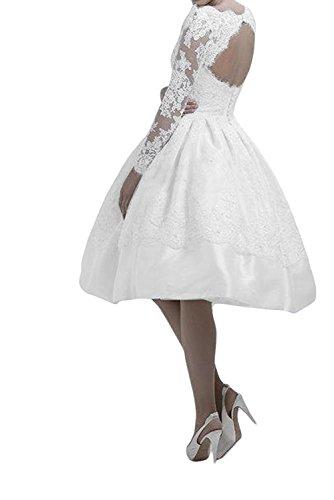Blau Damen Braut Brautmutterkleider Kurz Langarm Abendkleider Pink Spitze Marie Partykleider La Knielang qtEnUFtx