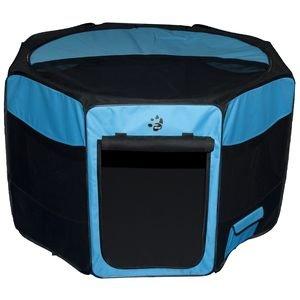Pet Gear Travel Lite Soft-Sided Pet Pen with Removable Top (29.0L x 29.0W x 17.0H - 30 lb capacity, Ocean Blue) by Pet Gear