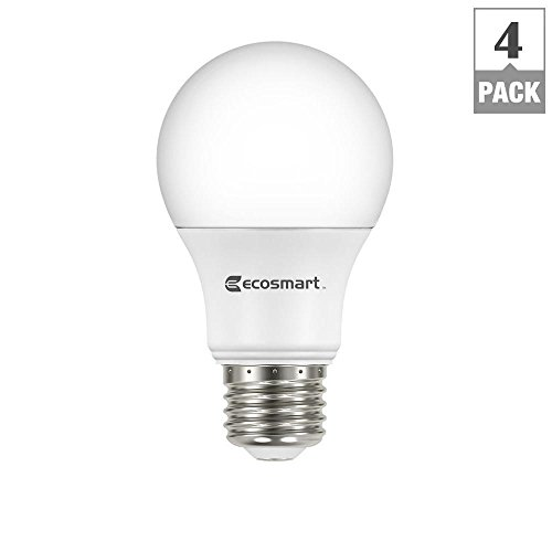 EcoSmart A19 A460ST-Q1D-01 40W Equivalent Dimmable LED Light Bulb, Soft White, (Pack of 4) (Dimmable Led Light Bulbs 40w compare prices)