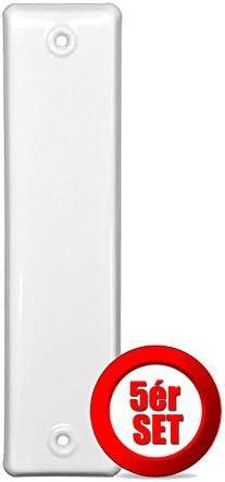 5x 160 Lochab Rolladen Gurtwickler Abdeckplatte Blende Abdeckung Kunststoff weiß