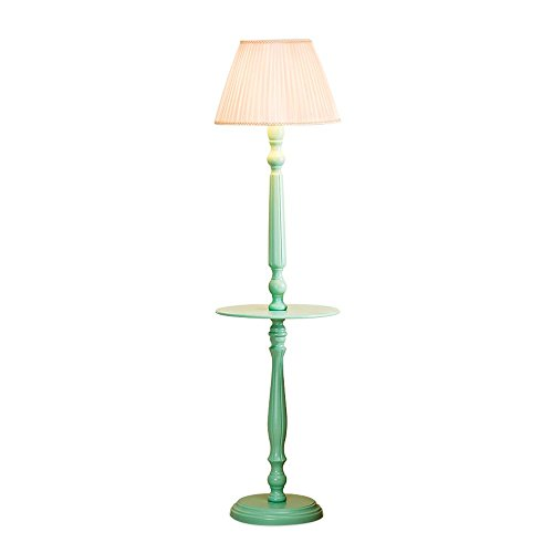 - XIANGYU Creative Wooden floor lamp for Living Room Bedroom Green E27 Decor Reading Light, Height: 156cm (Size : A lampshade)