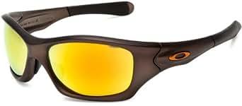 Oakley Pit Bull Asian Fit Sunglasses - Gunmetal FMJ Frame/Fire Iridium Lens OO9161-03