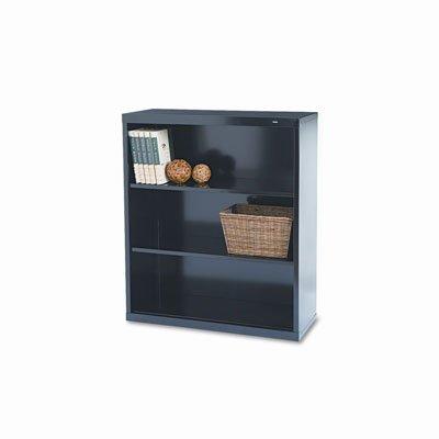Welded Steel Bookcase, H 40, 2 Shelf, Black B-42BK by Tennsco
