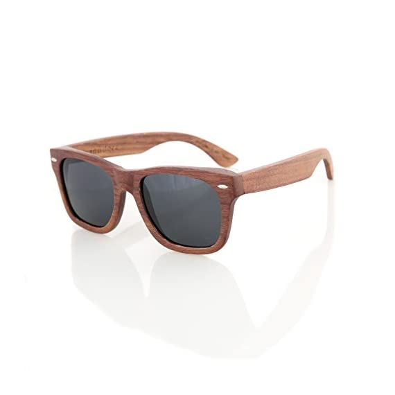 Walnut Wood Wooden Polarized Sunglasses Natural Floating Light Frames W/Pouch 4 HANDCRAFTED WOODEN SUNGLASSES- Each pair of sunglasses is unique and is made from sustainable walnut wood. These sunglasses are lightweight and float in the water POLARIZED LENSES - Our polarized lenses provides crystal clear vision and anti-glare with UV400 protection FREE MICROFIBER POUCH- Each pair of sunglasses come with one pouch to store and protect them.