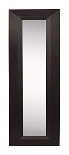 "Rayne Mirrors American Made Home Decorative Accent Dark Walnut Wall Mirror Panel Set of 4 - 11.75""W x 39.75""H"