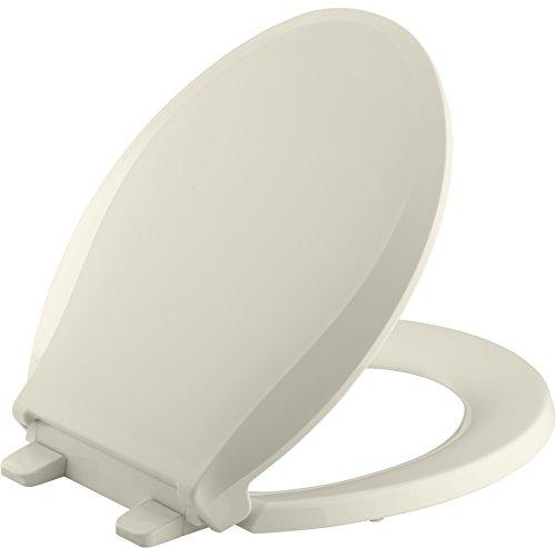 (Kohler K-7316-47 Quick Relase Round Front Toilet Seat Almond Grip-Tight)