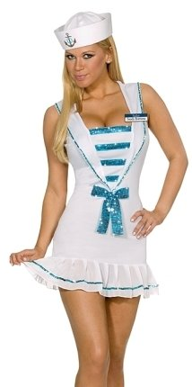 Dreamgirl Sexy Halloween Costumes Pin Up Sailor Girl Costume Womens XS (U.S. Size 0-2) -